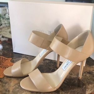JIMMY CHOO Tallow Kid Leather Sandals 8.5♥️♥️